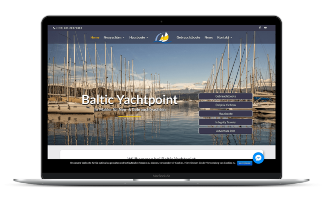 Web Design Baltic Yachtpoint