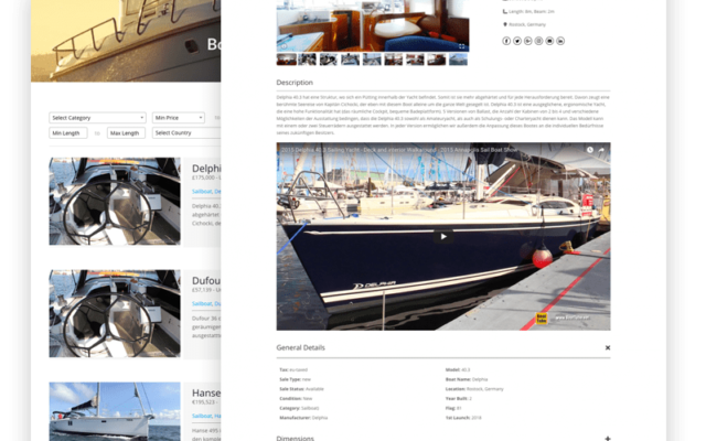 Website solutions for the Marine Industry