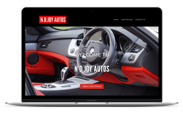 Web Design N.D. Joy Autos