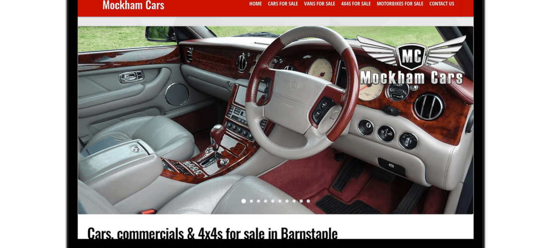 Web Design Mockham Cars 1