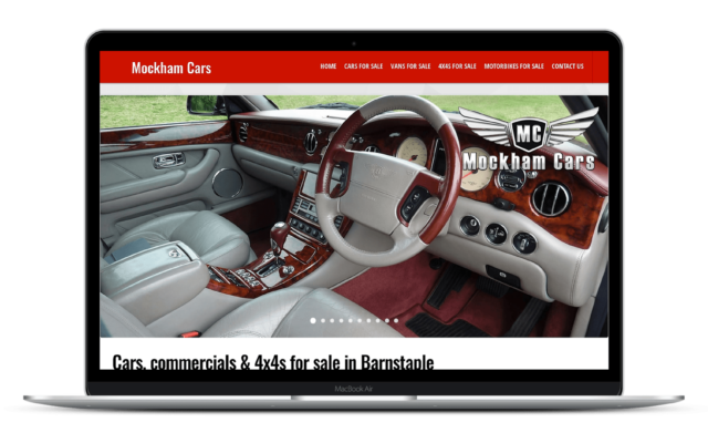 Web Design Mockham Cars