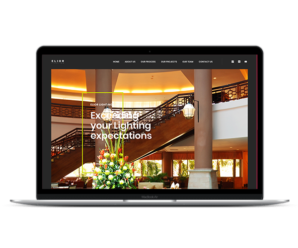 Web Design Elior Lighting 2