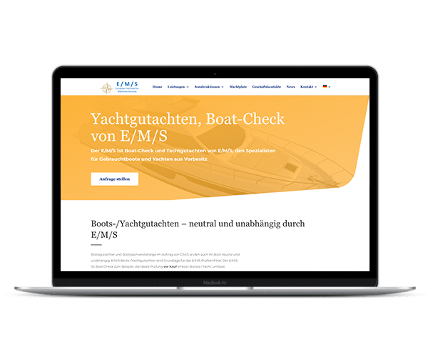 E/M/S Boat Check - Web Design 3